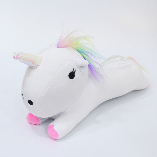 Plush Unicorn Pencil Case - White - ARIA KIDS