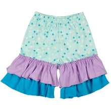 Mermaid Embroidered Ruffled Capri 2-piece set - ARIA KIDS