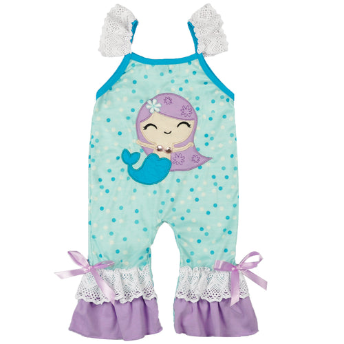 Mermaid Baby Girl Romper - ARIA KIDS