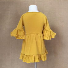 Hannah Bell Sleeved Tunic in Mustard - ARIA KIDS