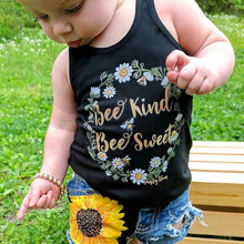 Bee Kind Bee Sweet Floral 2-piece Outfit - ARIA KIDS