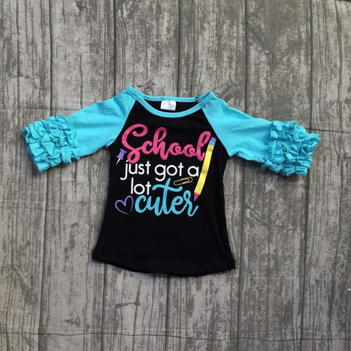 School Just Got a Lot Cuter Ruffle Icing Shirt - ARIA KIDS