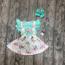 Mint Unicorn Suspender 4-Piece SET - ARIA KIDS