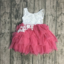 Chloe Embroidered Lace Tutu Easter, Birthday Dress in Rose Pink - ARIA KIDS