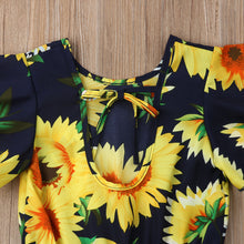 Sunflower Flared Sleeve Jumpsuit Romper - ARIA KIDS