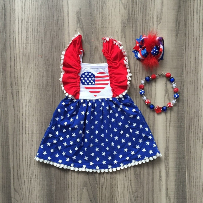 I Heart USA Dress 3- Piece SET (with Accessories) - ARIA KIDS