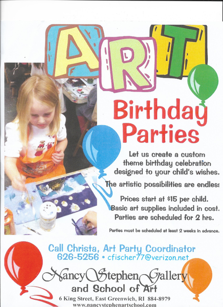 Art Birthday Parties
