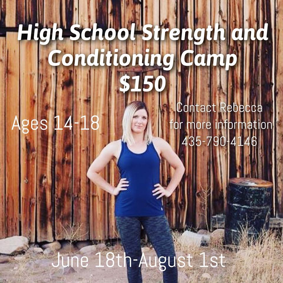 Come Sign Up For Rebecca's High School Strength and Conditioning Camp!