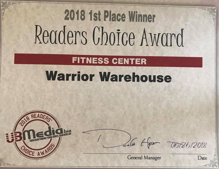 READER'S CHOICE FOR BEST GYM!