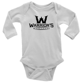 Infant Long Sleeve Onsie - Black Logo $14.99
