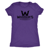 Women's Triblend Shirt- Black Logo $14.99