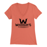 Women's V-Neck -Black Logo $14.99
