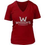 Women's V-Neck - Gray Logo $12.99