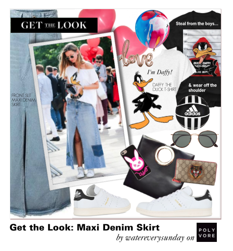 Get The Look: Maxi Denim Skirts
