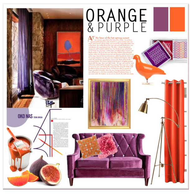 Orange & Purple Decor