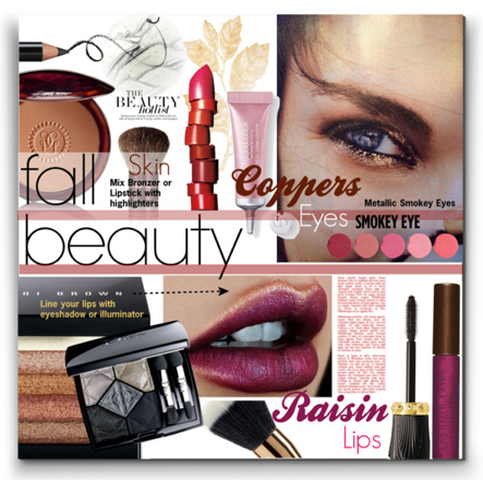Fall Beauty - Coppery Eyes & Raisin Lips