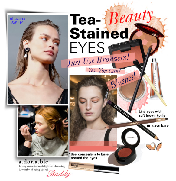 Tea Strained Eyes - Altuzarra S/S 2019 Beauty