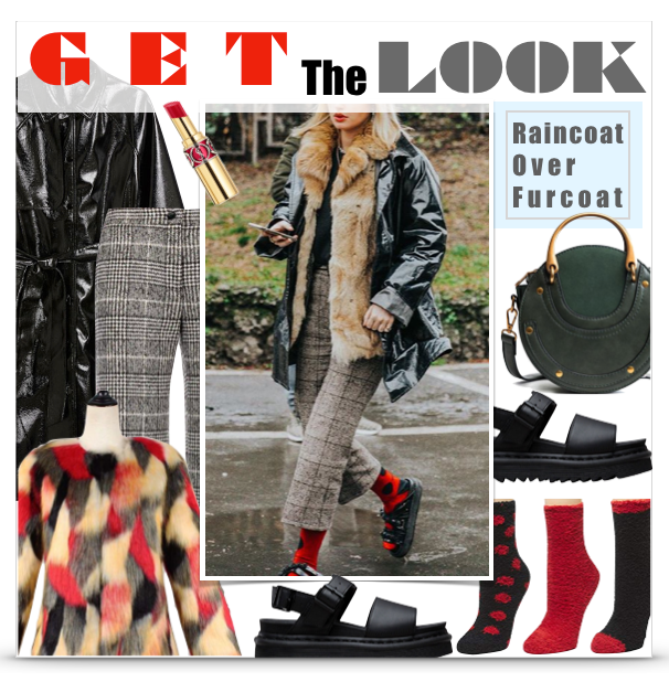 Get The Look - Rain Coat Over Fur Coat