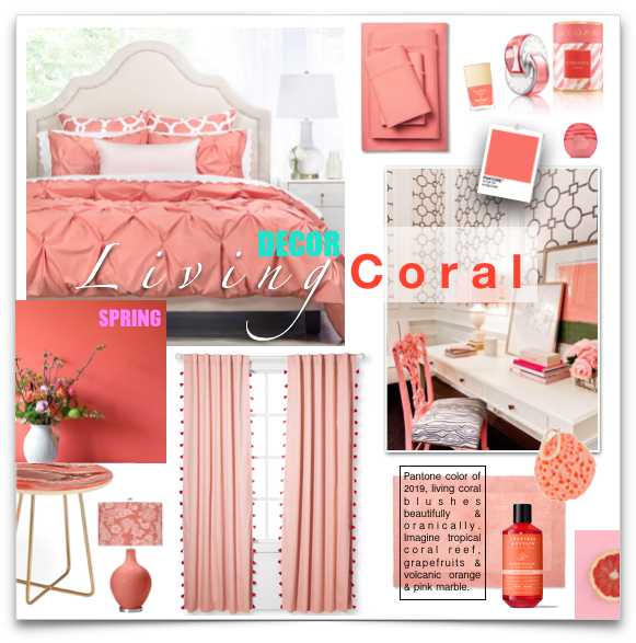Spring Living Coral Decor