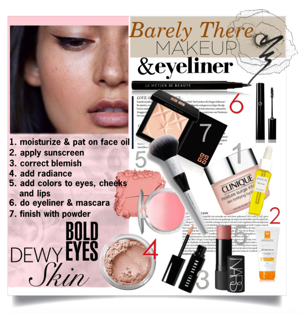 Barely There Makeup: Dewy Skin & Bold Eyes