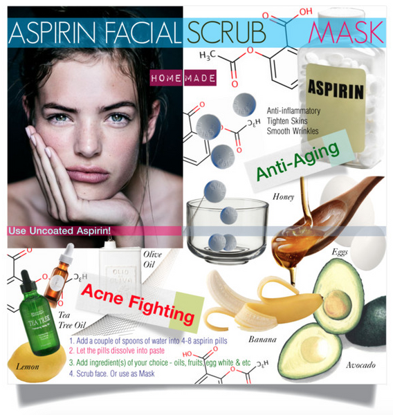Aspirin Facial Scrub Mask Watereverysunday