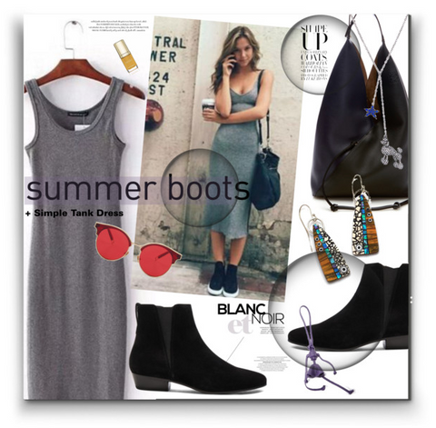 summer booties & tank dress