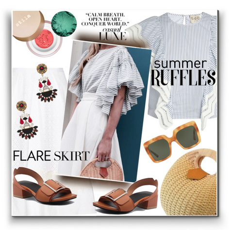 watereverysunday Ruffles & Flares polyvore top fashion set June 13, 2017