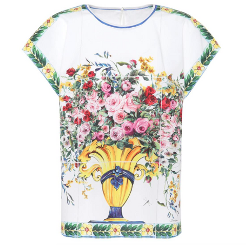 D& G floral cotton top