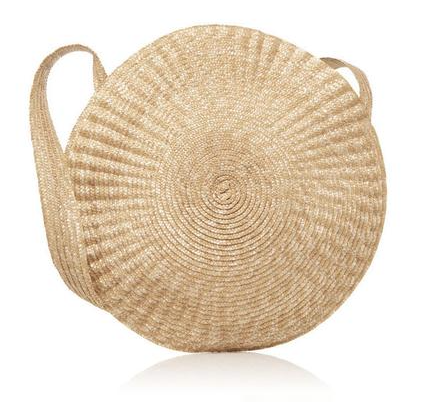 Luxe Big Circle Straw Beach Shoulder Bag $49.99