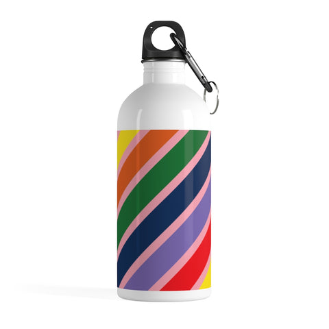 Multicolor Stripe Stainless Steel Water Bottle