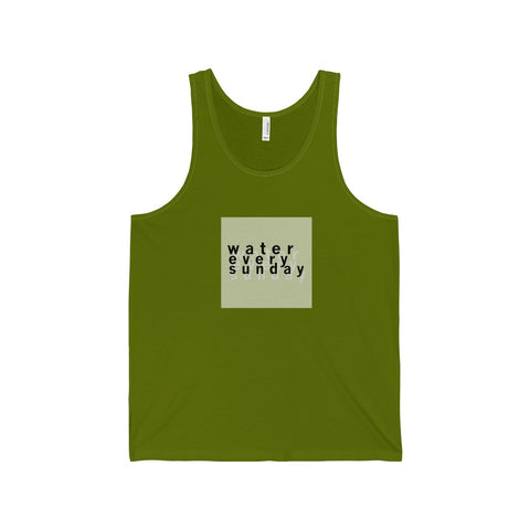 WATEREVERYSUNDAY Unisex Logo Tank - 10 Colors