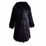 Shaggy Faux Fur Hooded Coats - 4 Colors
