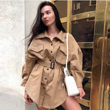 Cassidy Cotton Twill Belted Shirt Mini Dress/Jacket