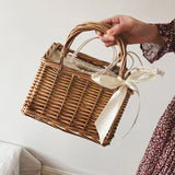 Box Wicker Basket Mini Tote