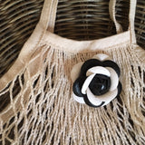 Camelina Crochet Mesh Tote - Black or White