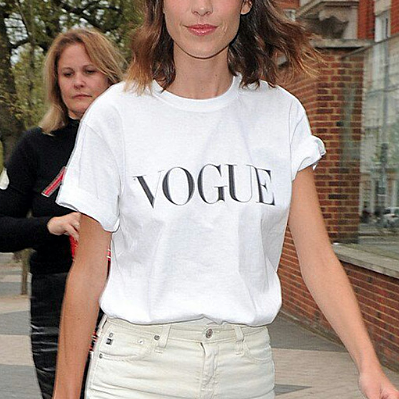 Vogue Letter Graphic T-Shirts