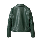 Tatiana Grain Leather Moto Jacket - 3 Colors