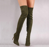 Over The Knee Suede Glove Boots - 5 Colors