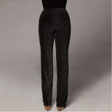Glitter Metallic Lurex Trouser Pants - 2 Colors