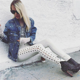Kylee Side Lace-Up Skinny Jeans