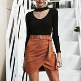 Bethany Faux Suede Wrap Mini Skirt - 4 Colors