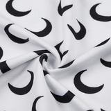 Machella Crescent Moon Prints Tissue Top - 2 Colors