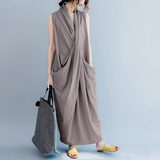 Dhalma Oversized Sleeveless Maxi Sack Dress - 3 Colors