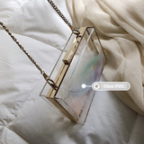Lexie Clear Transparent Box Clutch