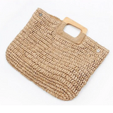Annabelle Square Straw Shopper - 2 Colors