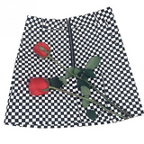 Daphne Checkerboard Mini Skirt