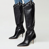 Lorna Western Ankle Drawstring Knee High Boots