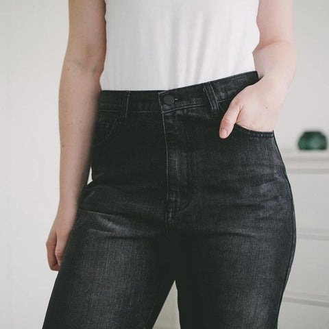 c34514a7ab3e Anja Black High Waisted Boyfriend Jeans – watereverysunday