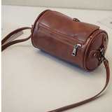 Effie Vintage Distressed Leather Cylinder Bag - 3 Colors
