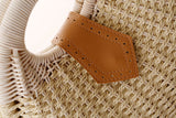 Gloria Snail's Nest Rattan Top Handle Bag